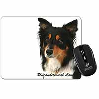 Tri-Colour Border Collie-Love Computer Mouse Mat Birthday Gift Idea