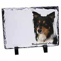 Tri-Colour Border Collie-Love Photo Slate Christmas Gift Idea