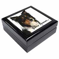 "Tri-colour Border Collie Dog ""Yours Forever..."" Keepsake/Jewel Box Birthday Gift"