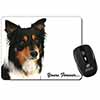 "Tri-colour Border Collie Dog ""Yours Forever..."" Computer Mouse Mat Christmas Gif"