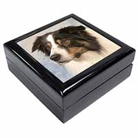TriCol Border Collie Dog Keepsake/Jewellery Box Christmas Gift