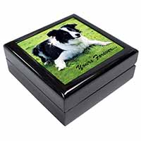 "Border Collie Dog ""Yours Forever..."" Keepsake/Jewel Box Birthday Gift Idea"