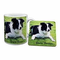 "Border Collie Dog ""Yours Forever..."" Mug+Coaster Birthday Gift Idea"