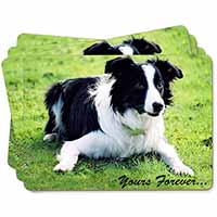 "Border Collie Dog ""Yours Forever..."" Picture Placemats in Gift Box"