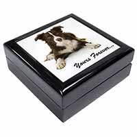 "Liver and White Border Collie ""Yours Forever..."" Keepsake/Jewel Box Birthday Gif"