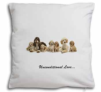 Cockerpoodles-Love- Soft Velvet Feel Scatter Cushion