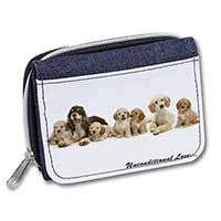 Cockerpoodles-Love- Girls/Ladies Denim Purse Wallet Birthday Gift Idea
