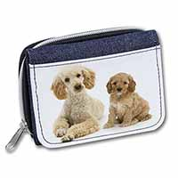 Poodle and Cockerpoo Girls/Ladies Denim Purse Wallet Birthday Gift Idea