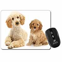 Poodle and Cockerpoo Computer Mouse Mat Birthday Gift Idea