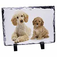 Poodle and Cockerpoo Photo Slate Christmas Gift Idea