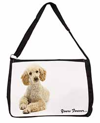 "Apricot Poodle ""Yours Forever..."" Large Black Laptop Shoulder Bag School/College"