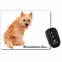 Cairn Terrier Dog With Love Computer Mouse Mat Birthday Gift Idea
