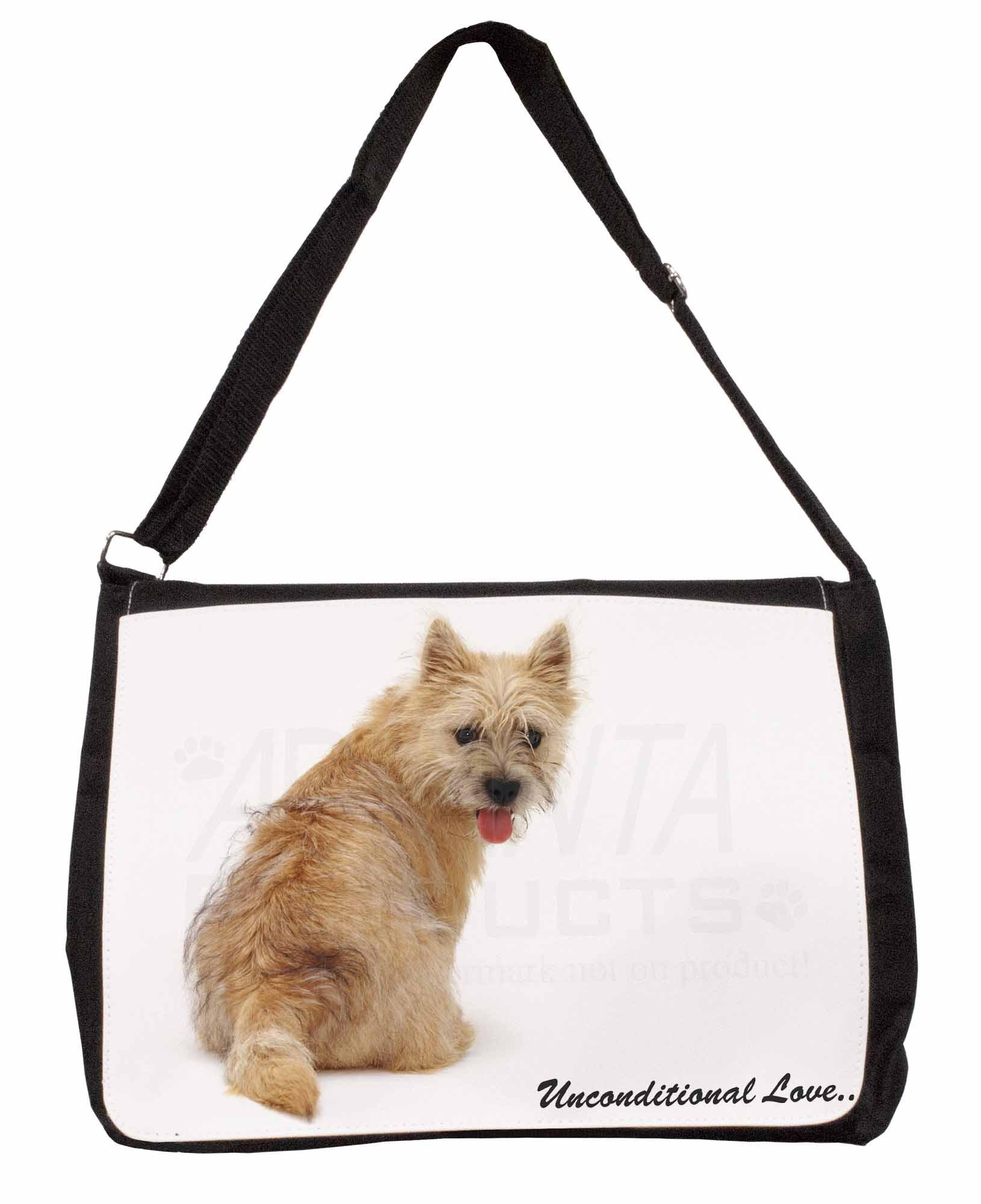 98e6a542103d Details about Cairn Terrier Dog With Love Large Black Laptop Shoulder Bag  School/Co, AD-CT1uSB