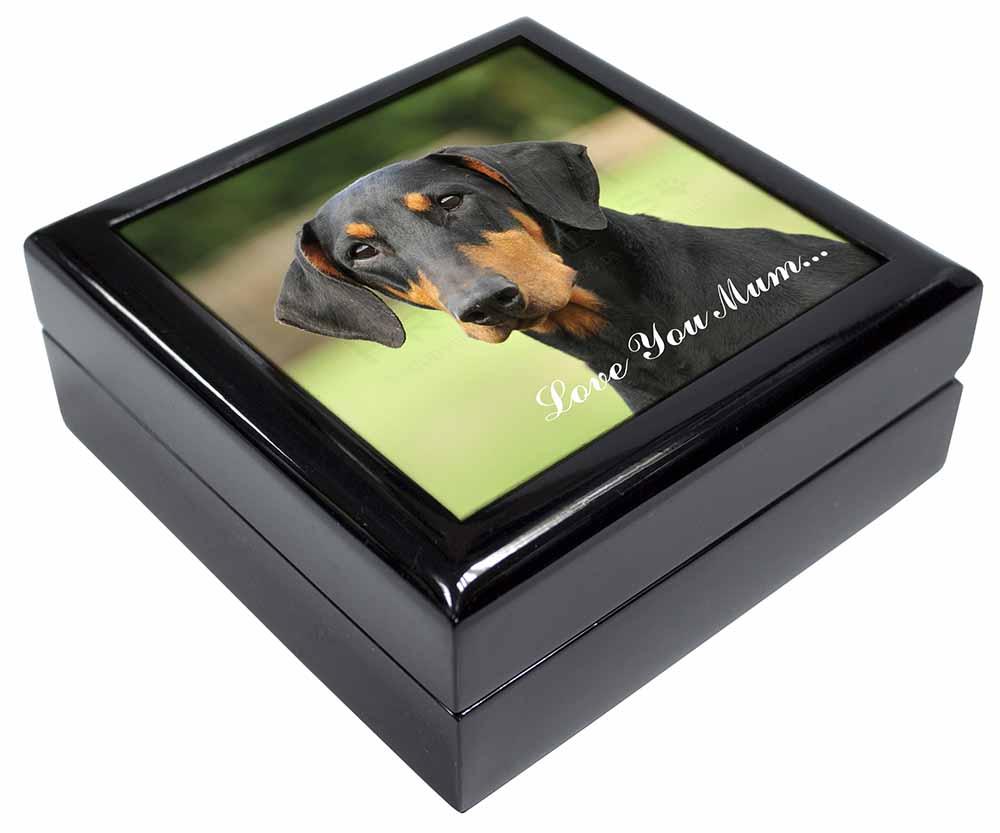 Promotional Doberman Pinscher Love You Mum Keepsake Jewellery Box