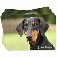 "Doberman Pinscher Dog ""Yours Forever..."" Picture Placemats in Gift Box"