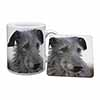 Deerhound Dog Mug+Coaster Christmas/Birthday Gift Idea