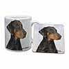 Doberman Pinscher-With Love Mug+Coaster Christmas/Birthday Gift Idea