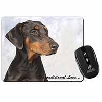 Doberman Pinscher-With Love Computer Mouse Mat Christmas Gift Idea