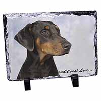 Doberman Pinscher-With Love Photo Slate Christmas Gift Ornament