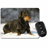 Long-Haired Dachshund Dog Computer Mouse Mat Birthday Gift Idea