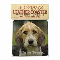 "Welsh Fox Terrier Dog ""Yours Forever..."" Single Leather Photo Coaster Perfect Gi"