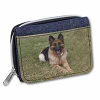 Alsatian/ German Shepherd Dog Girls/Ladies Denim Purse Wallet Birthday Gift Idea