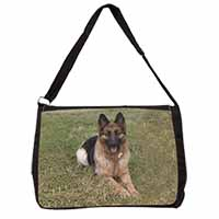 Alsatian/ German Shepherd Dog Large Black Laptop Shoulder Bag School/College
