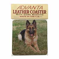 Alsatian/ German Shepherd Dog Single Leather Photo Coaster Perfect Gift