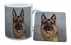German Shepherd-Alsatian Mug+Coaster Birthday Gift Idea