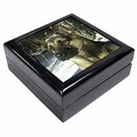 German Shepherd Dog in Snow Keepsake/Jewellery Box Birthday Gift Idea