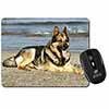 German Shepherd Dog on Beach Computer Mouse Mat Christmas Gift Idea