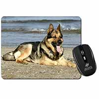 German Shepherd Dog on Beach Computer Mouse Mat Birthday Gift Idea