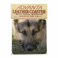 German Shepherd Single Leather Photo Coaster Perfect Gift
