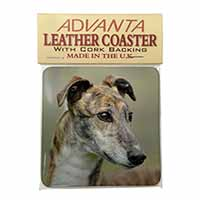 Greyhound Dog Single Leather Photo Coaster Perfect Gift