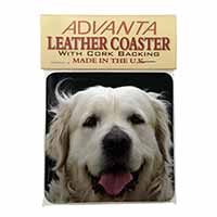 Golden Retriever Single Leather Photo Coaster Animal Breed Gift
