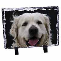 Golden Retriever Photo Slate Christmas Gift Ornament