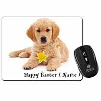 Personalised Name Golden Retriever Computer Mouse Mat Birthday Gift Idea