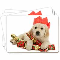 Christmas Golden Retriever Picture Placemats in Gift Box