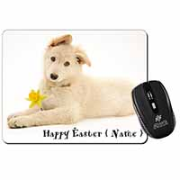 Personalised Name White Shepherd Computer Mouse Mat Birthday Gift Idea