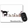 Siberian Husky Family with Love Computer Mouse Mat Christmas Gift Idea