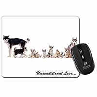 Siberian Husky Family with Love Computer Mouse Mat Birthday Gift Idea