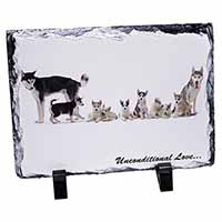 Siberian Husky Family with Love Photo Slate Photo Ornament Gift