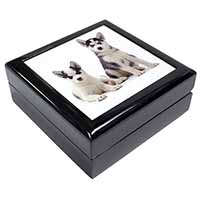 Siberian Huskies Keepsake/Jewel Box Birthday Gift Idea