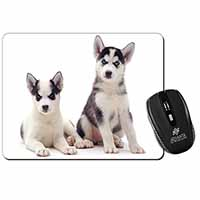 Siberian Huskies Computer Mouse Mat Birthday Gift Idea