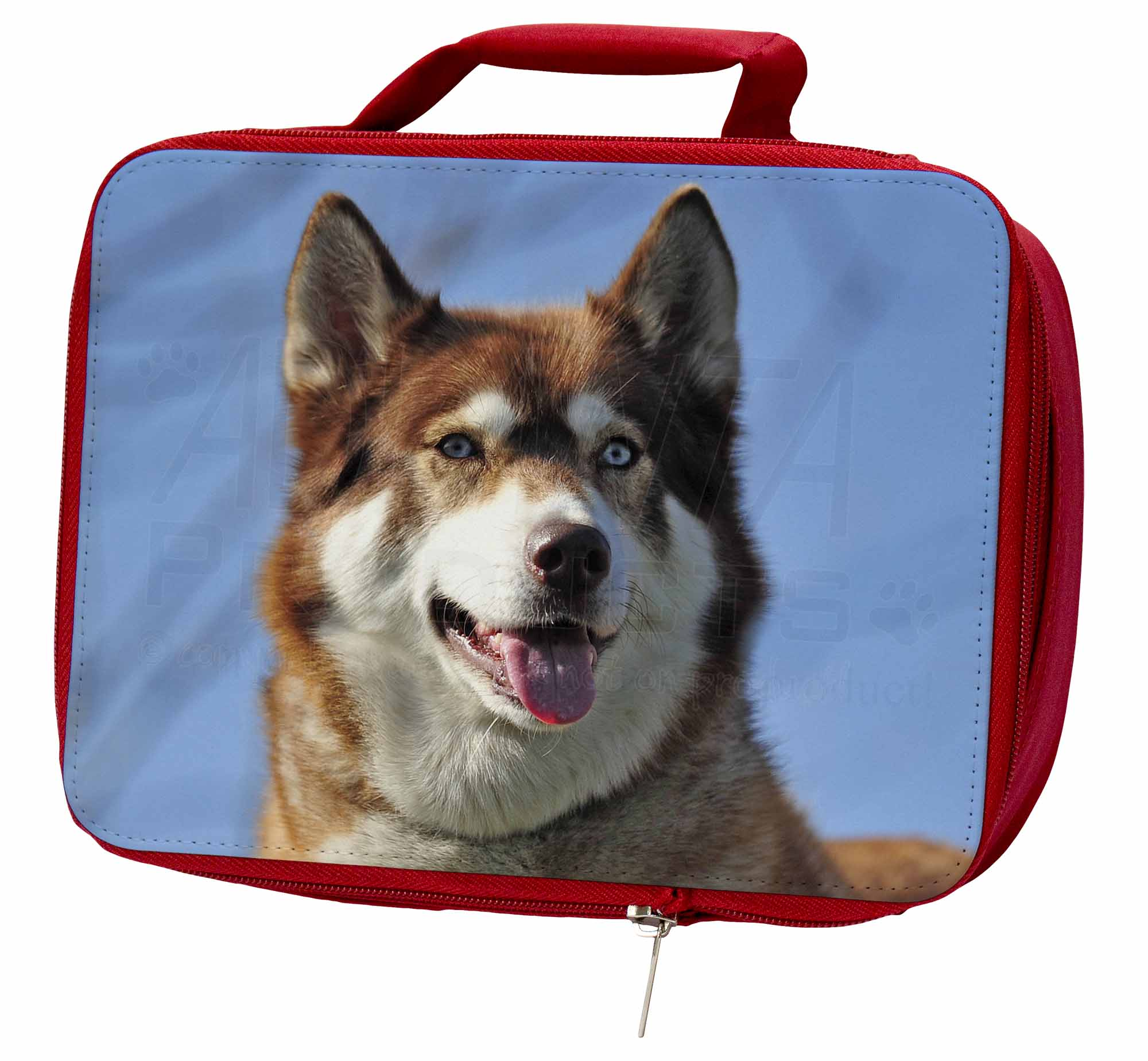 Red Husky Dog Insulated Red School AD-H68LBR Lunch Box/Picnic Bag, AD-H68LBR School 733c7a