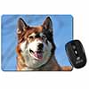 Red Husky Dog Computer Mouse Mat Christmas Gift Idea