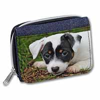 Jack Russell Puppy Dog Girls/Ladies Denim Purse Wallet Christmas Gift Idea