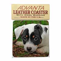 Jack Russell Puppy Dog Single Leather Photo Coaster Perfect Gift