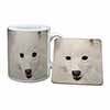 Japanese Spitz Dog Mug+Coaster Christmas/Birthday Gift Idea
