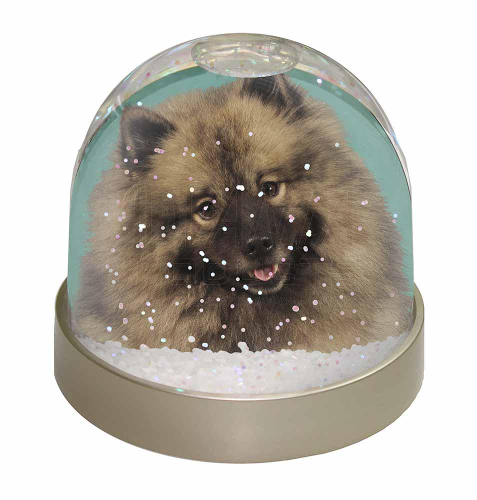 Promotional Keeshond Dog Photo Snow Globe Waterball Gift